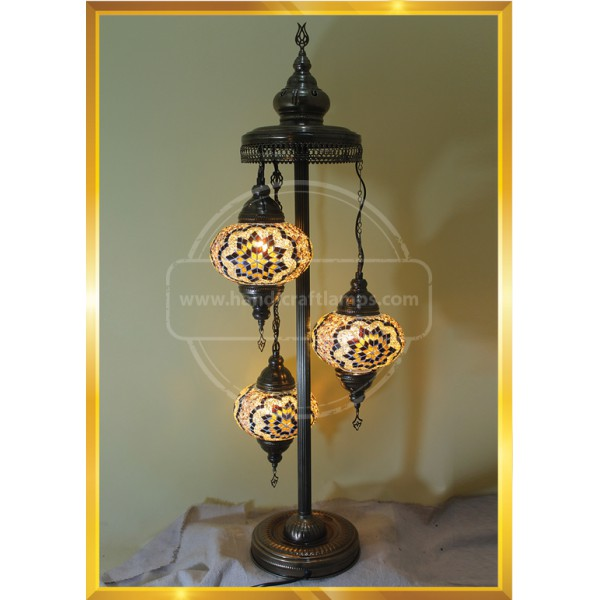 Turkish Moroccan Lamp Marrakech Handmade Mosaic Glass Table Desk Bedside Lamp HND HANDICRAFT