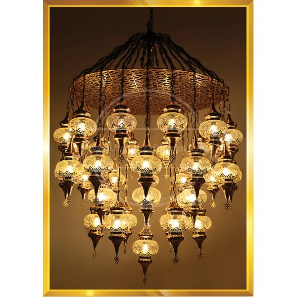 Turkish mosaic lamp, Vintage Antique Look ,Cylinder Copper Filigree Gold painted Lamp HND HANDICRAFT