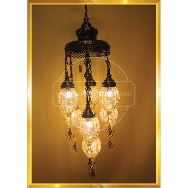 7 Globe Turkish Lamp HND HANDICRAFT