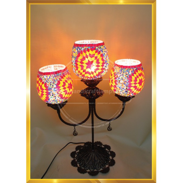 Handmade Mosaic Turkish Lamp, Vintage Bedroom Decor Table Lamp, Unique Night Light Lamps for Living Room, Room Decor for Teen Girls Boys, Bedside Lamp, Night Light for Kids, Tiffany Lamp  HND HANDICRAFT