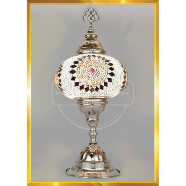 Multi color Turkish Moroccan Mosaic Glass Lamp HND HANDICRAFT