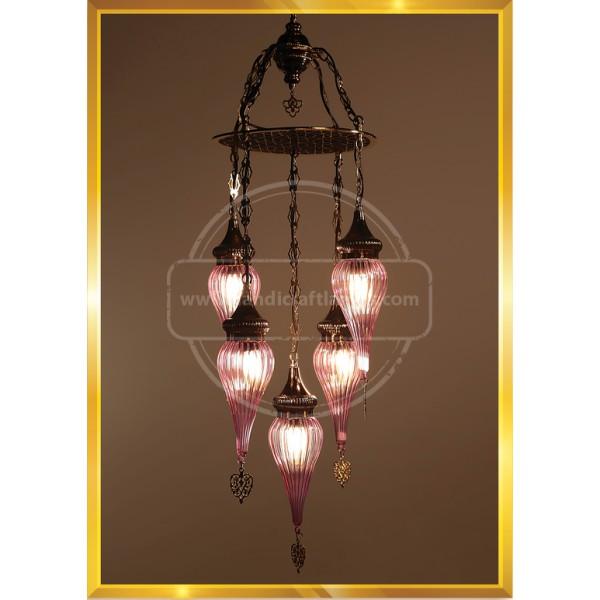 5 Globes Payreks Turkish Lamp HND HANDICRAFT