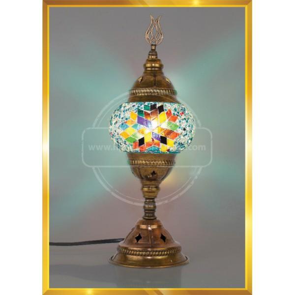 Turkish Moroccan Mosaic Glass Table Desk night lamp HND HANDICRAFT