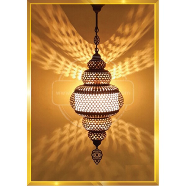 Vintage Stained Glass Moroccan Style Mosaic Table Light Room Decoration Art Decor HND HANDICRAFT