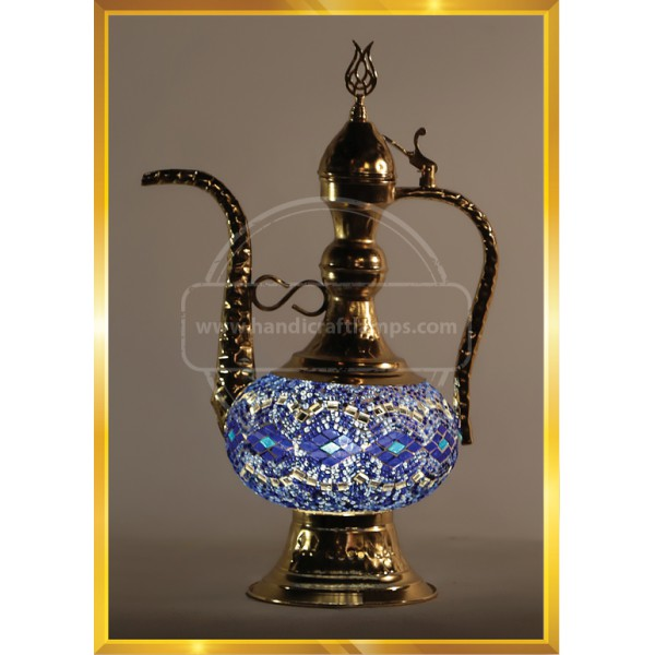 Handmade Turkish Moroccan Mosaic Glass Table Desk Bedside Lamp Light Pitcer HND HANDICRAFT