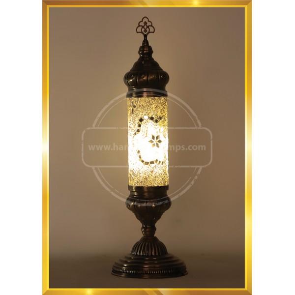 Handmade Turkish Moroccan Mosaic Glass Table Desk Lamp Light HND HANDICRAFT