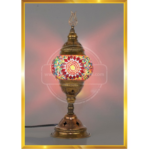 Turkish Moroccan Mosaic Glass Table Desk lamp HND HANDICRAFT
