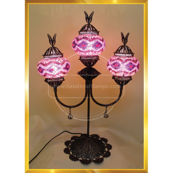 Turkish Mosaic Filigree Lamp HND HANDICRAFT