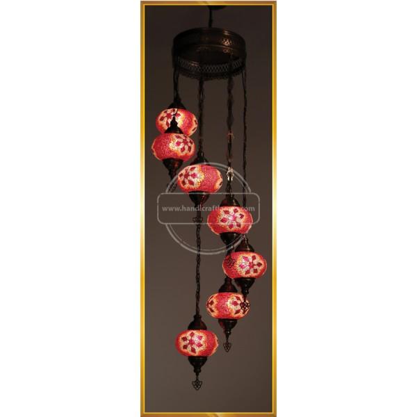 7 Lİ Special Turkish Mosaic Lamp HND HANDICRAFT