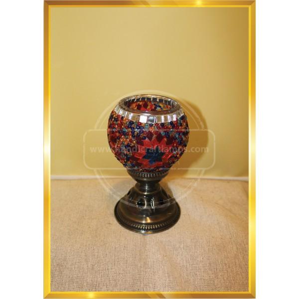 Single Turkish Mosaic Table Lamp With Large Globe HND HANDICRAFT
