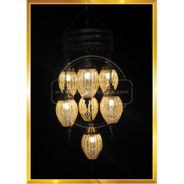 7 Globes Payreks Turkish Lamp HND HANDICRAFT