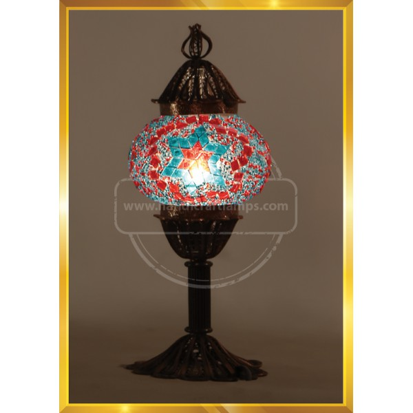 Mosaic Table Lamp Marrakech Handmade Turkish Mosaic Glass Lamp 3 Globes Candelabra Moroccan Tiffany Style Lamp Decorative Night Light for Living Room Bedroom HND HANDICRAFT