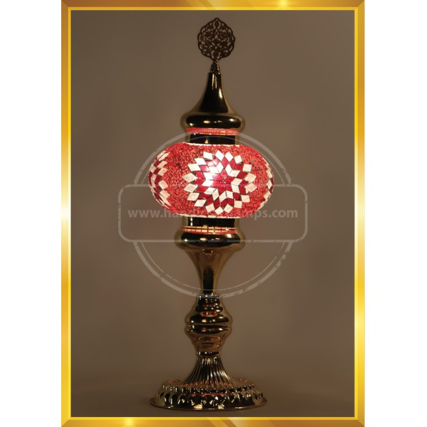 Handmade Turkish Moroccan Mosaic Glass Table Desk Bedside Lamp Light HND HANDICRAFT
