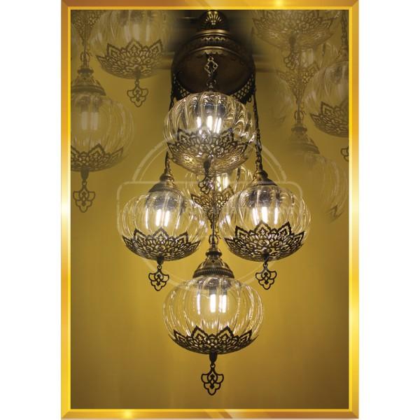 25 Crystal Payreks Pull turkish lamp HND HANDICRAFT