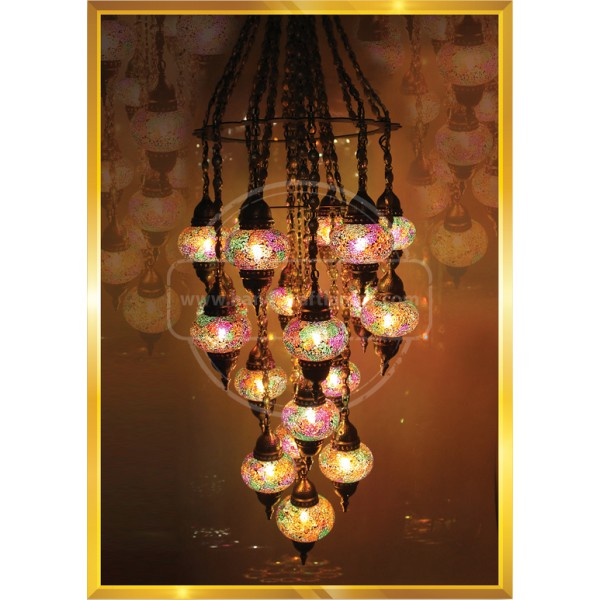 19 LU DROP MOSAIC IMPACT No3 Lamp HND HANDICRAFT