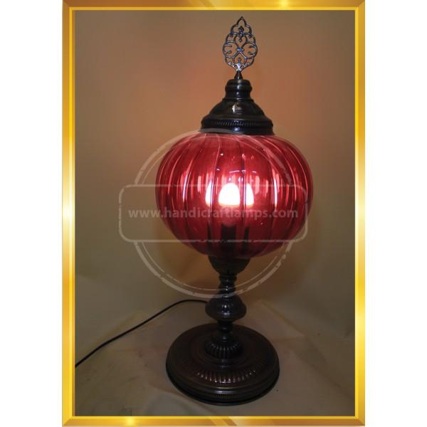 Turkish Blown Paylex Glass lamp HND HANDICRAFT