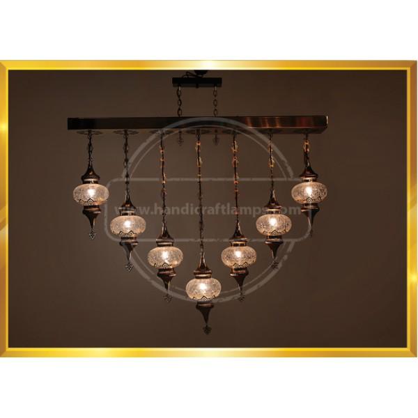 7 Globe kitchen Lamp HND HANDICRAFT