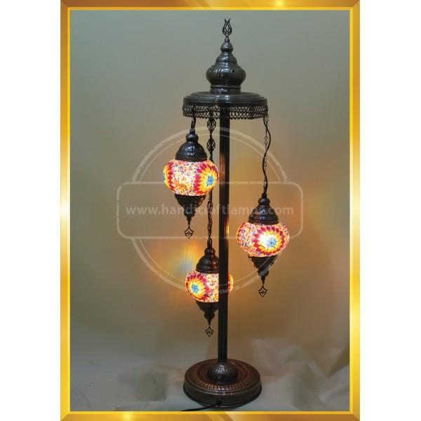 Turkish Moroccan Lamp Marrakech Handmade Mosaic Glass Table Desk Bedside Lamp Night Light for Living Room Bedroom Coffee Table HND HANDICRAFT
