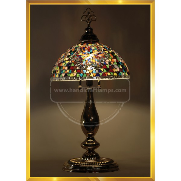 Handmade Mosaic Turkish Lamp, Vintage Bedroom Decor Table Lamp, Unique Night Light Lamps for Living Room, Room Decor for Teen Girls Boys, Bedside Lamp, Night Light for Kids, Tiffany Lamp Desk Lamp HND HANDICRAFT