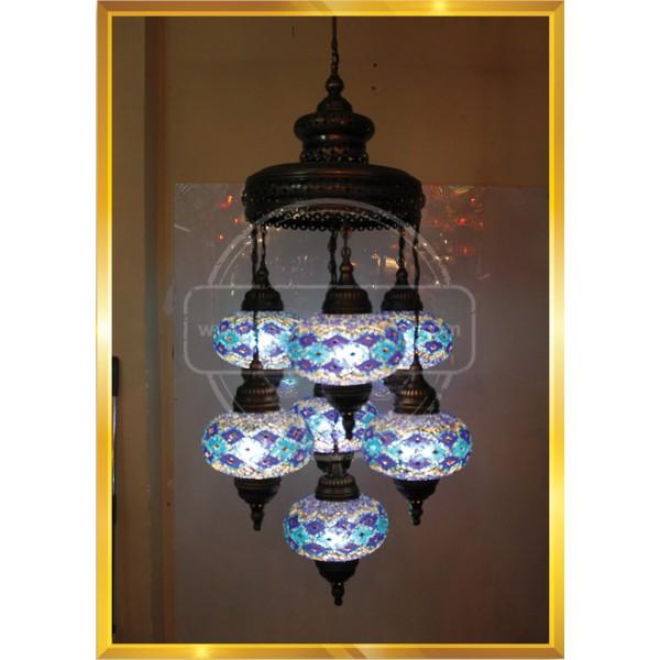 7Lİ Column Lamp SET NO3 HND HANDICRAFT