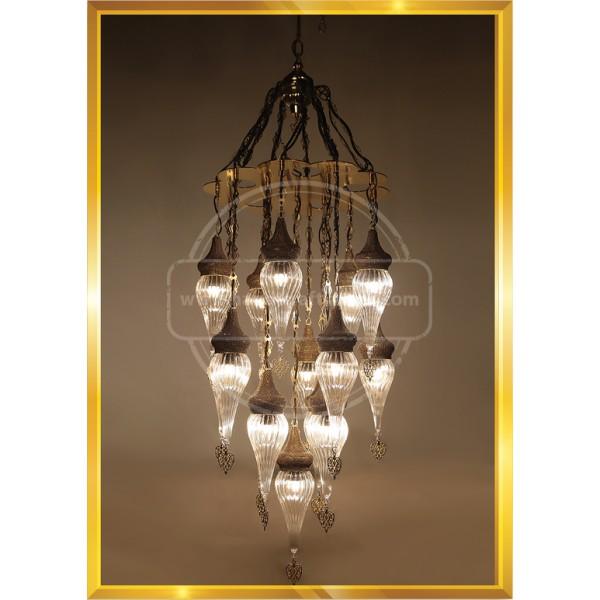 Mosaic Chandelier, Filigree Copper Mosaic,Mosaic Lamp,Turkish Lamp,Moroccan Lantern HND HANDICRAFT