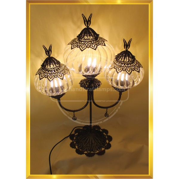 3 Globe Laser Cut Handmade, Authentic, Mosaic Chandelier, Tiffany Style Glass, Moroccan/Ottoman Style Night Lights HND HANDICRAFT