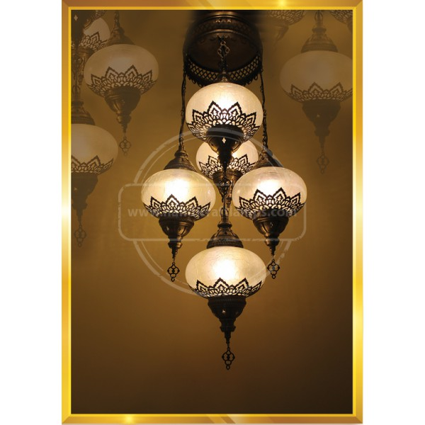 5 Crystal Payreks Pull turkish lamp HND HANDICRAFT