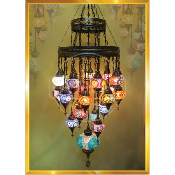 25 Lİ Double Special  Mosaic Lamp HND HANDICRAFT