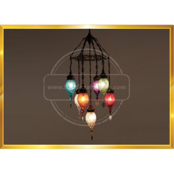 Mosaic Chandelier, Filigree Copper Mosaic,Mosaic Lamp,Turkish Lamp,Moroccan  HND HANDICRAFT