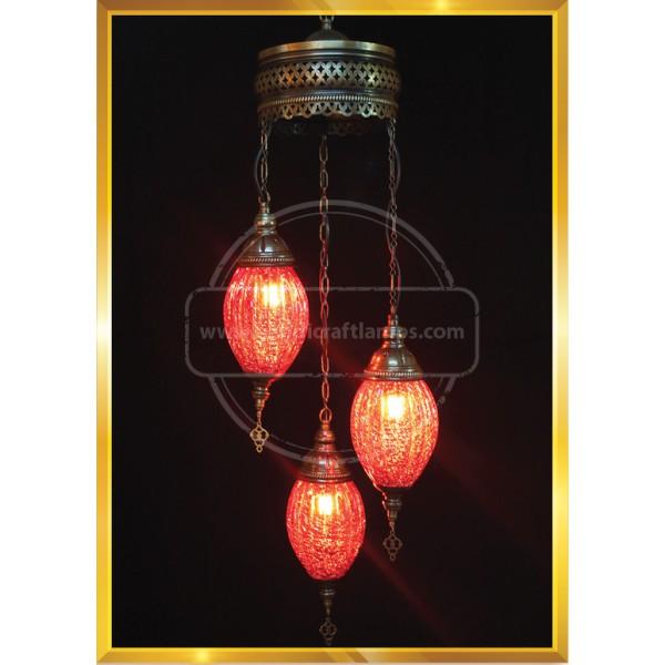 3 Globes fracturing art Turkish Lamp HND HANDICRAFT