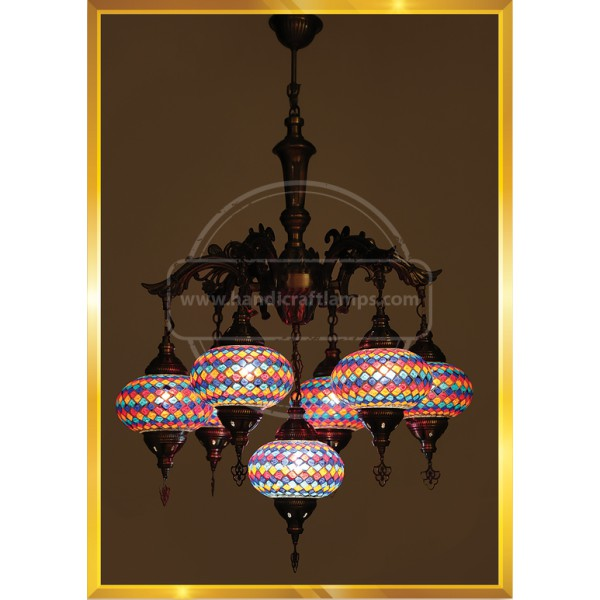 7 Lİ Moroccan Lamp SET NO3 HND HANDICRAFT