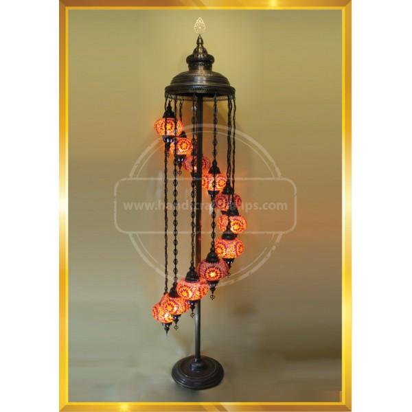 Mosaic Table Lamp Marrakech Handmade Turkish Mosaic Glass Lamp 3 Globes Candelabra Moroccan Tiffany Style Lamp HND HANDICRAFT