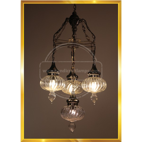 4 Globes Payreks Turkish Lamp HND HANDICRAFT