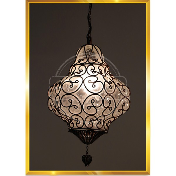 Wire Blowing Copper Lamp HND HANDICRAFT