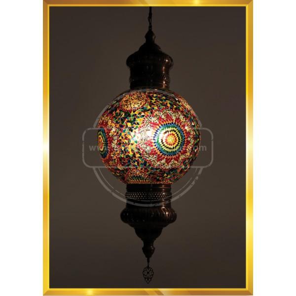 50 cm Night Mosaic Lamp HND HANDICRAFT