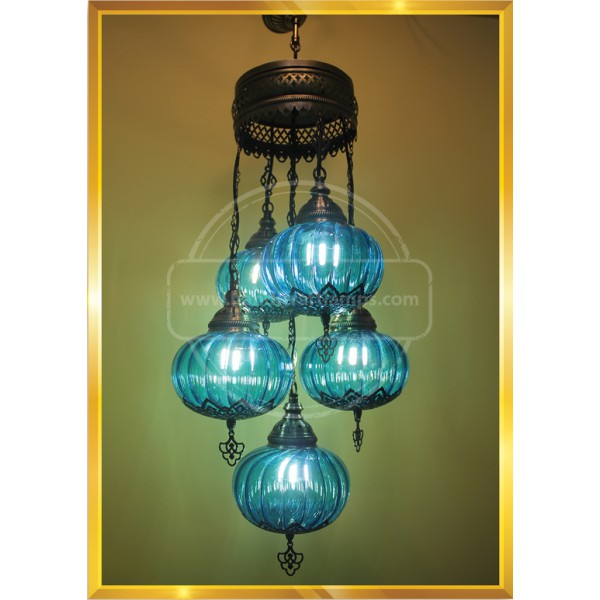 Authentic, Mosaic Chandelier, Tiffany Style Glass HND HANDICRAFT