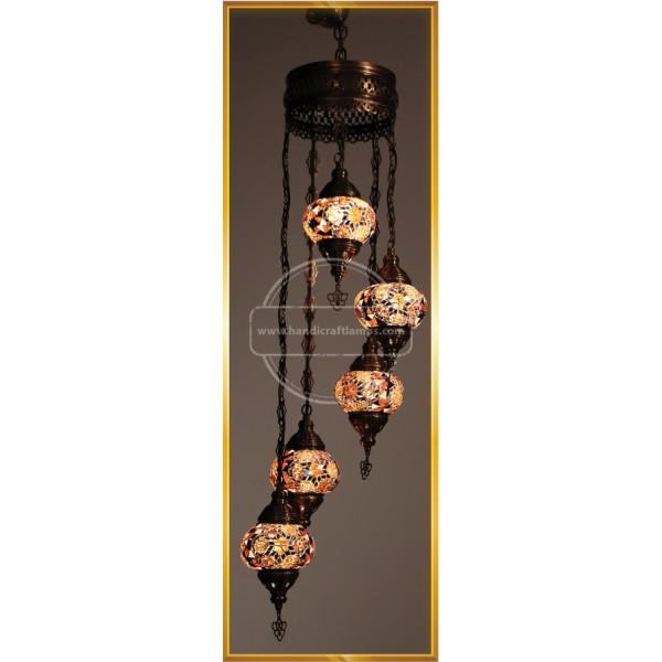 5 Lİ Mosaic Lamp SET NO2 HND HANDICRAFT