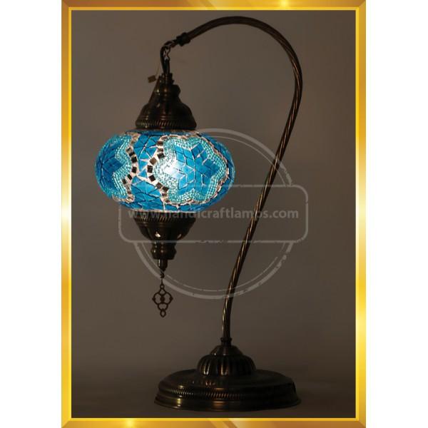 Handmade Turkish Moroccan Mosaic Glass Table Desk Bedside Lamp Light Fishing HND HANDICRAFT