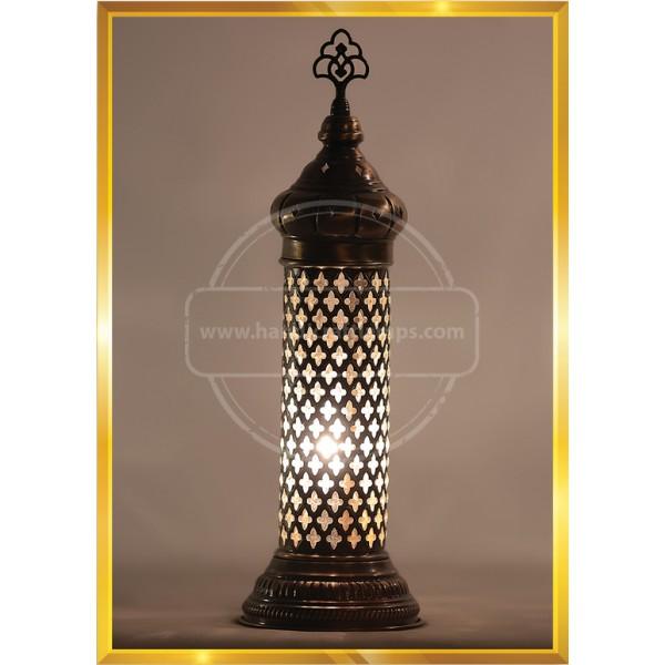 Turkish Mosaic Glass Desk Lamp HND HANDICRAFT