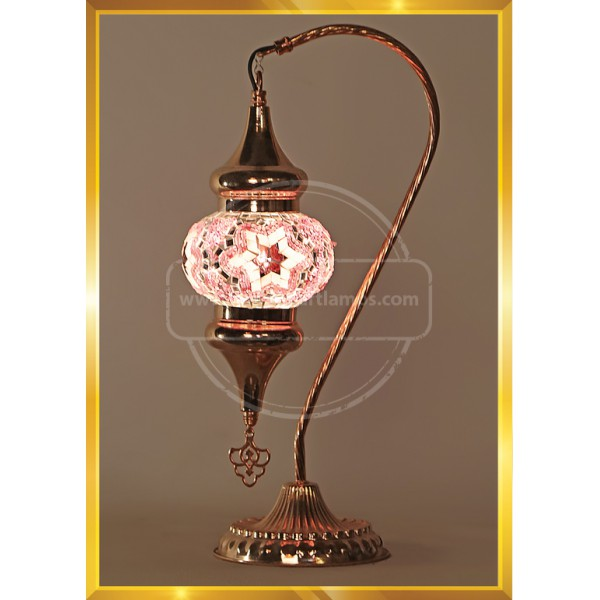 Handmade Turkish Moroccan Mosaic Glass Table Desk Bedside Lamp Light Copper HND HANDICRAFT
