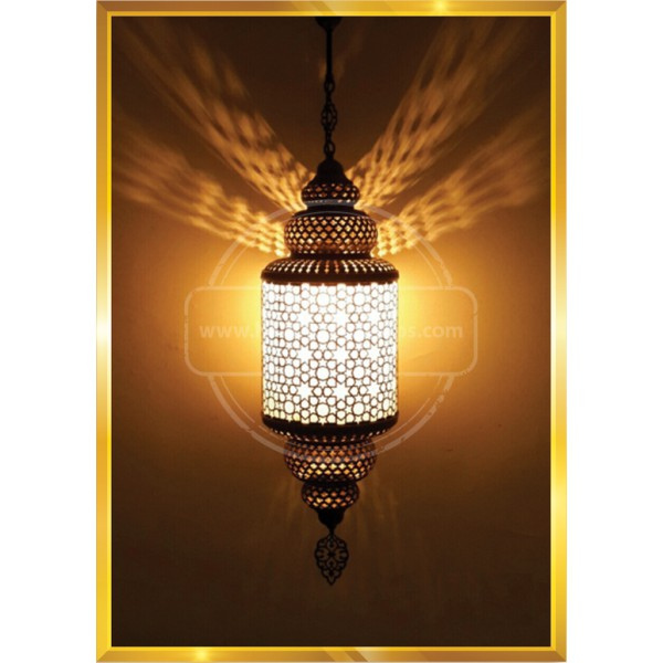 Turkish Moroccan Mosaic Swag Plug in Pendant Ceiling Hanging Light with HND HANDICRAFT