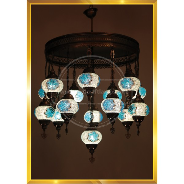 15 Lİ SET 1 Meter Floor Turkish Lamp HND HANDICRAFT