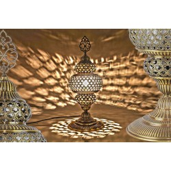 Perforated Stainless Lamp HND HANDICRAFT