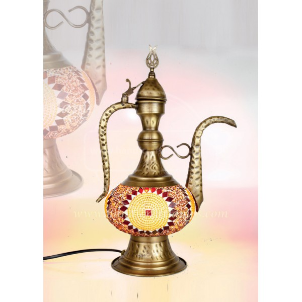 Handmade Mosaic Turkish Lamp, Vintage Bedroom Decor Table Lamp, Unique Night Light Lamps for Living Room, Room Decor for Teen Girls Boys, Bedside Lamp, Night Light for Kids, Tiffany Lamp  HND HANDICRAFT