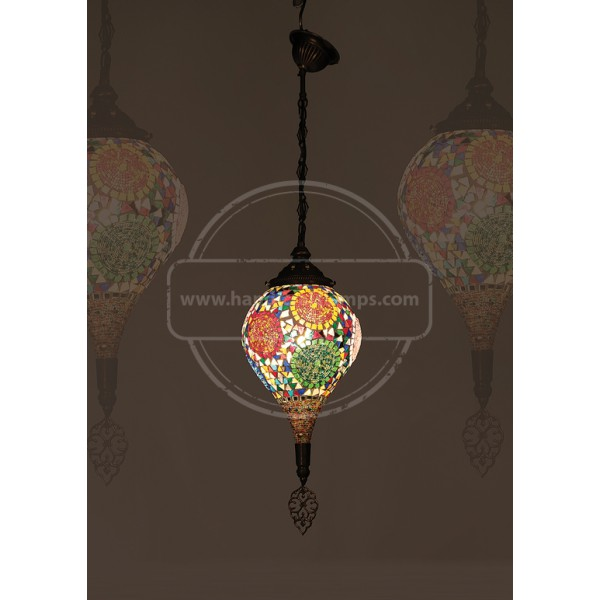 18 cm Ceiling Floor Turkish Lamp HND HANDICRAFT
