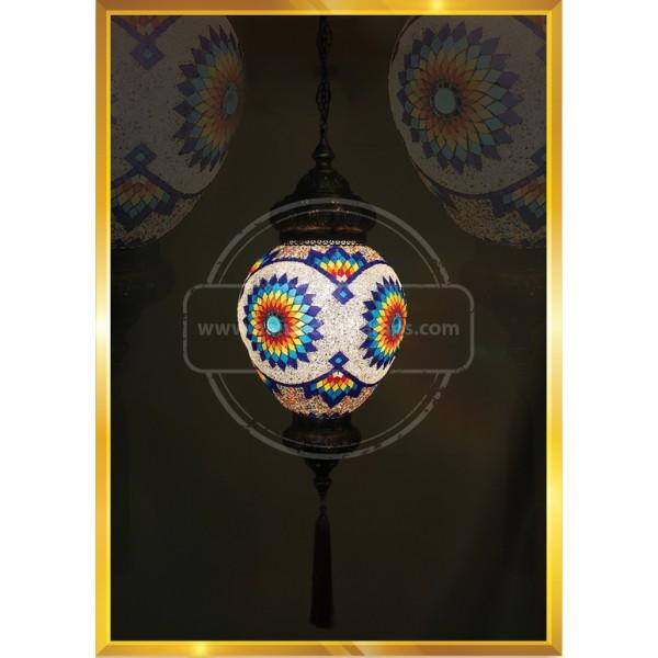 25 CM Egg Mosaic Lights HND HANDICRAFT