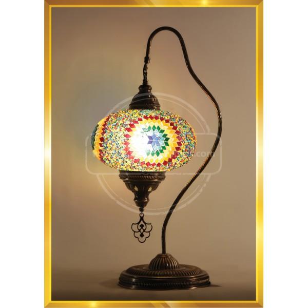 Handmade Turkish Moroccan Mosaic Glass Table Desk Bedside Lamp Light No 5 HND HANDICRAFT